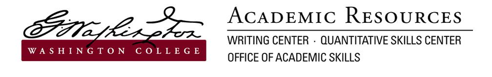 Washington College Academic Resources Logo